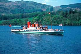 Ullswater steamer. Photo courtesy of Cumbria Tourist Board